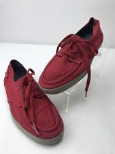 Reef Deck Hand 2 Boat Shoes Casual Red Canvas Mens Size 9