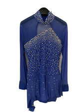 Ice Figure Skating Competition Dress Classic Blue Adult Size M