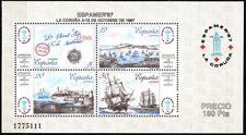 SPAIN 1987 Philately: Stamp Expo ESPAMER'87. Art. Ports Ship Pre-stamp Cover MNH