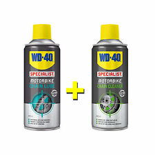 WD40 Motorcycle Chain Lube 400ML & Motorbike Chain Cleaner 400ML Aerosol Spray