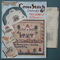 Vintage 1930s 20s Bestway 428 Cross Stitch Embroidery book Crinoline Lady chart