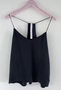 NWT Lululemon Wake & Flow Camisole Racerback V-neck Black Mesh Neckline  Size 8