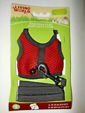Living World Hamster, Gerbil, Small Rat Harness - Small - 60865 Red