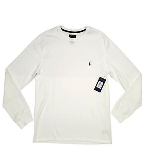 Polo Ralph Lauren | Men's Waffle-Knit Thermal Pajama Shirt White | Large