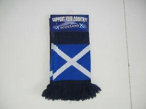 SCOTLAND Scottish Blue Flag FOOTBALL SCARF World Cup National Team Soccer NEW!