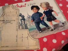 Patrons poupées modes et travaux