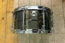 """Ludwig 13"""" x 7""""  Black Magic Brass Snare Drum-Chrome Fittings USED"""