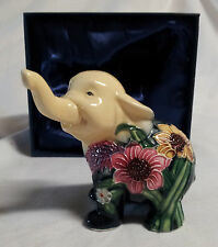 NEW GENUINE OLD TUPTON WARE HAND PAINTED ELEPHANT CREAM GREEN BOXED FREE Postage