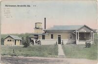 Indiana In Postcard 1910 BROOKVILLE The CREAMERY Milk FRENCH BROTHERS