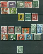 Bund Jahrgang 1956 - Auswahl aus Michel Nr. 227 - 248 , o , gestempelt