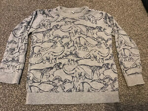 Marks And Spencers Boys Age 3-4 Years Thin Dinosaur Jumper
