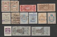 Denmark Norway Sweden revenue fiscal stamp collection mix cinderella ml635