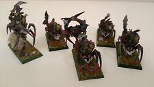 5 Arañas. Regimiento Orcos y Goblins. Pintadas con calidad - Warhammer Fantasy