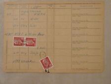 """DDR Zustellliste EF + MEF 30 Pfg Ulbricht Poststelle """"4910 (Droßdorf?) 6 Zeitz"""""""