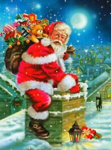 """""""DOWN THE CHIMNEY"""" Santa Toys Christmas 300 Pieces BOXLESS Jigsaw Puzzle *NEW*"""