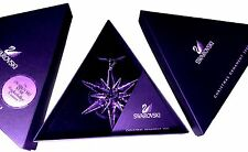 Swarovski 2005 Christmas Star / Snowflake - Mint, with both boxes, ROCKEFELLER