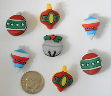 Tree Trimmers / Buttons Galore Christmas Buttons / Ornament Shape Shank Buttons