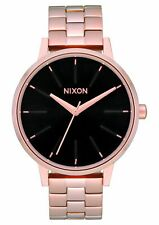 Nixon Women's Kensington A0991098-00 37mm Black Dial Stainless Steel Watch