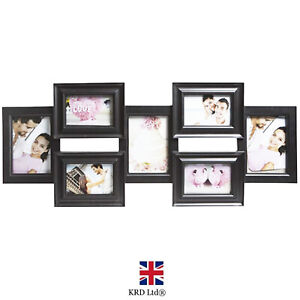Black Multi Photo Frames Home Decor Collage Picture Wall Set Gift Family Love UK