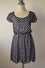 Multi Colored Polka Dots Mini Dress Small