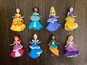 Disney Princess Action Figures 8 Ariel Jasmine Bell more Interchangeable Dress