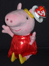 TY PEPPA PIG GOLDEN BOOTS BEANIE BABY - MINT with MINT TAG  - UK EXCLUSIVE