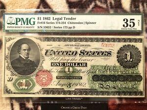 Civil War 1862 $1 One Dollar Legal Tender Chase Greenback VF VERY FINE 35 Net