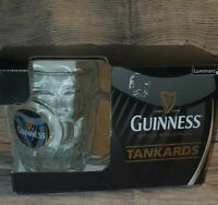 GUINNESS TANKARDS GLASSES 2 PACK WITH HARP 20 oz OFFICIALLY LICENSED NEW BEER 🍺