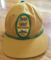 Vintage 1969 Payless PGA Golf Classic Shadow Hills Strapback Patch Hat