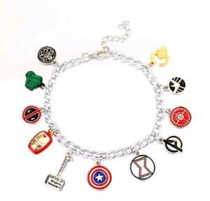 Unusual Eleven Charm Marvel Avengers Bracelet Super Hero Bracelet  953