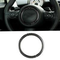 Carbon Fiber Steering Wheel Ring Trim Fit For Mini Cooper R55 R56 R60 2007-2013