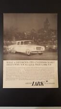 Vintage 1960 Lark V8 by Studebaker ad advertisment