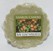 1 NEW YANKEE CANDLE BAY LEAF WREATH TARTS WAX MELTS CANDLE WARMER TART GREEN