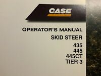 CASE Skid Steer 435, 445, 445CT, Tier 3 Operator's  Manual