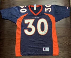 Vintage Terrell Davis #30 Denver Broncos Champion NFL Football Jersey Mens Sz 44