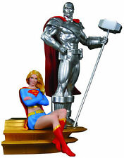 DC Direct Superman Family Multi-Part Statue: Part 2: Supergirl and Steel NEW NIP