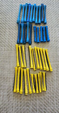 LOT OF 40 Blue and YELLOW PERM RODS Professional Beauty School Curlers Rollers