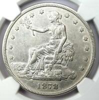 1878-S Trade Silver Dollar T$1 - Certified NGC AU Details - Rare Coin!