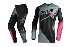 Oneal 2022 Youth Girls Element Racewear Offroad Motocross Jersey Pant Combo Pink