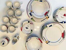 Sango Radius Postmodern Dinnerware Coffee Serving Lot - 42 pieces