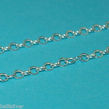 5 feet BULK Sterling Silver 925 OVAL ROLO Cable CHAIN 3x4mm  - Jewelry Making