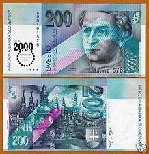 Slovakia, 200 Korun, Millenium Issue, SCARCE, P-37, UNC