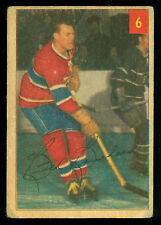 1954 55 PARKHURST HOCKEY #6 BUTCH BOUCHARD VG COND MONTREAL CANADIENS STAT BACK