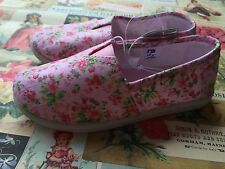 Baby Girls Canvas Flat Shoes Floral Plimsoles Summer Beach Espadrilles Size 5