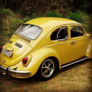 Volkswagen Beetle Bug Rear Window Venetian Blinds Black Slats VW 65-77 Flexible