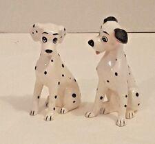 """Disney 101 Dalmations Ceramic Dog Figurines Pongo & Perdita Japan 5"""""""