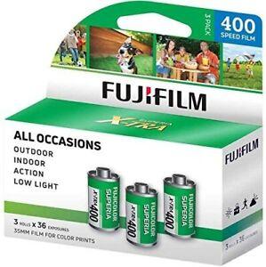 FUJIFILM Fujicolor Superia X-TRA 400 Color Negative Film (35mm, 3 Rolls, 108 Exp)