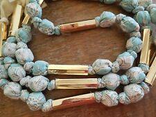 New TORY BURCH Micah Long Multi Color Fabric Necklace Ribbon Tie RARE $195 BOHO