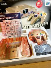 ★ Nintendo 64 Console Boxed GOLD Model Toys R Us Serial Matching ★ Japan ★