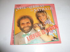 "ARIE RIBBENS En NATHALIE - Liefde Is Leven - 1989 Dutch 2-track 7"" Juke Single"